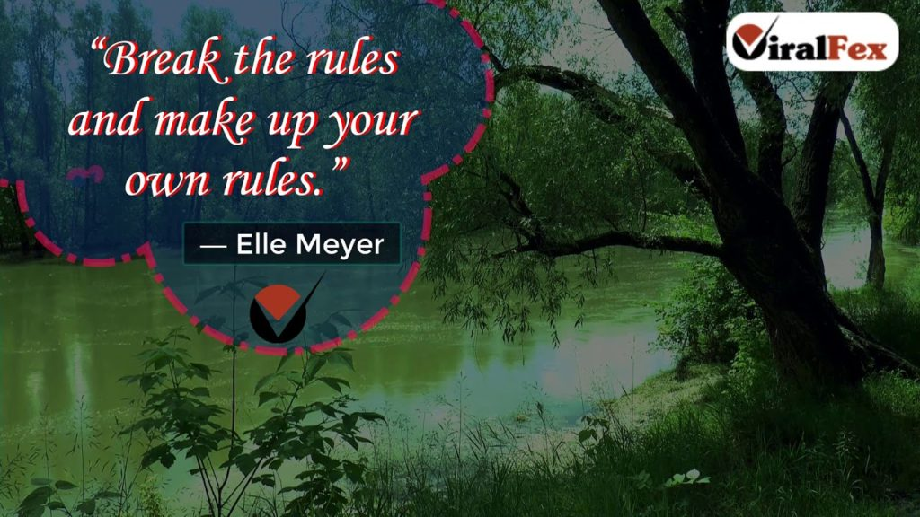 Break The Rules - Elle Meyer Video Quotes