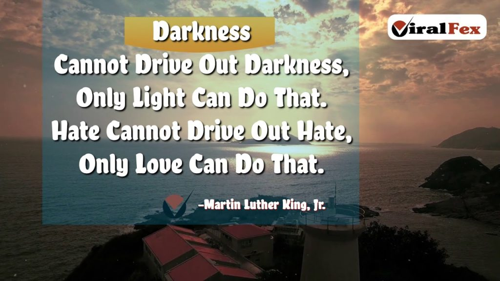 Darkness Cannot Drive Out Darkness - Martin Luther King, Jr Quotes