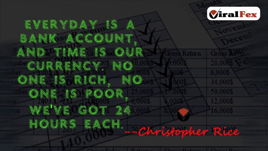 Everyday Is A Bank Account Quote By Christopher Rice Video Quotes