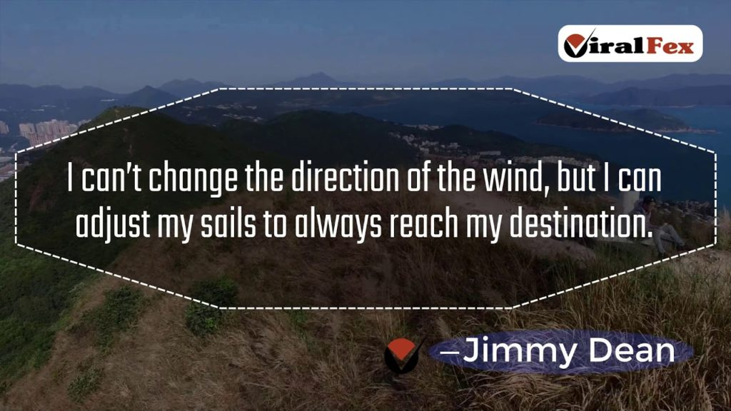 I Can't Change The Direction Of The Wind By Jimmy Dean