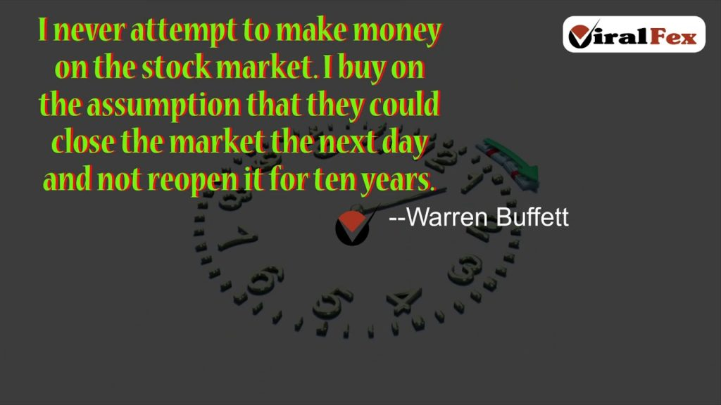 Warren Buffett Video Quotes- I never attempt to make money on the stock market