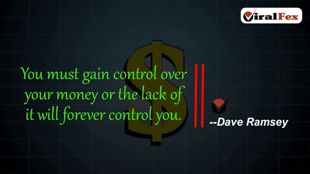 You must gain control over your money - Video Quote